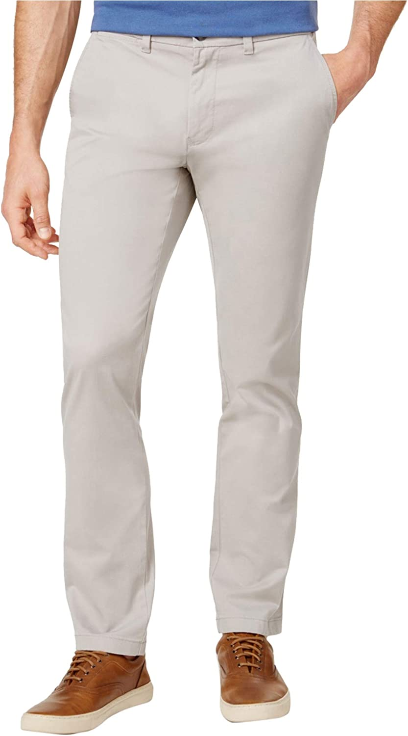 Tommy Hilfiger Mens Slim-Fit Casual Chino Pants