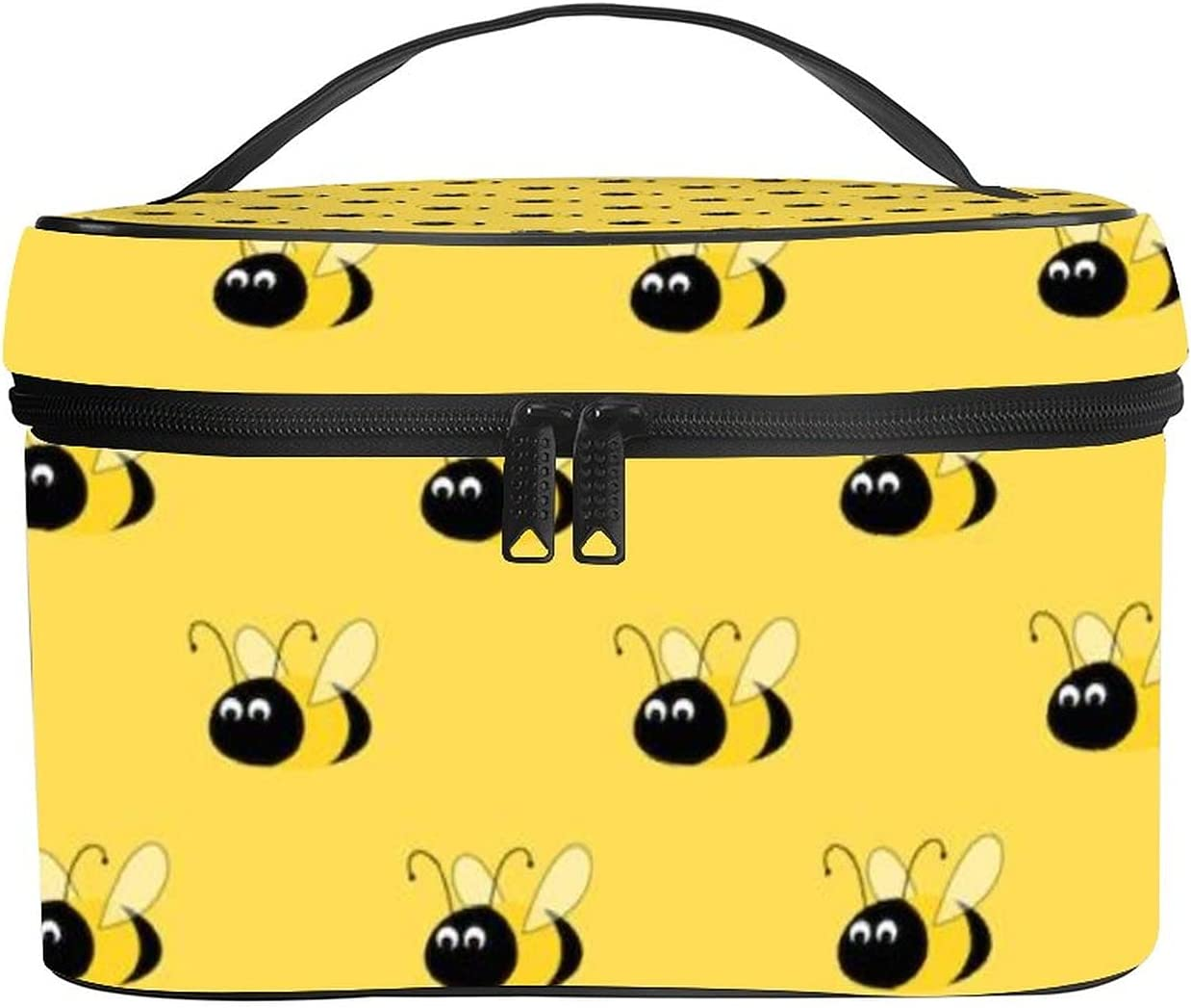 NiYoung Toiletry Bag Award Yellow Bees Makeup Daily bargain sale Novelty Cosmetic Po Bags