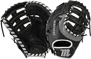 Marucci Oxbow Series 12.75 Inch First Base Glove (Mfgox3-Bk/Gy) Double Bar.