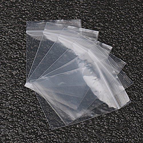 nuosen, 100 Sacchetti Trasparenti con Chiusura a Zip, 5,1 x 7,6 cm, Sacchetti in plastica richiudibili per Gioielli, Caramelle