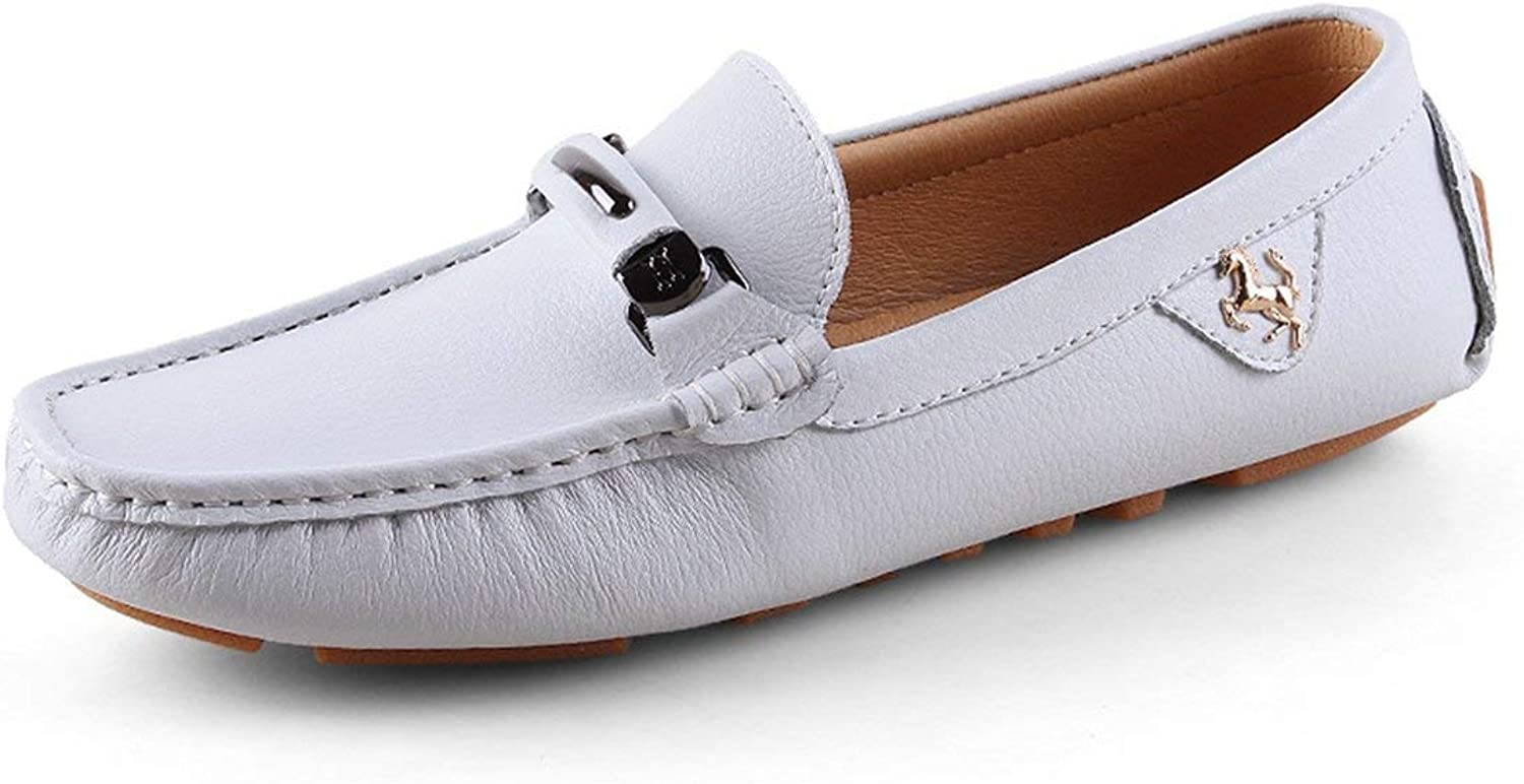 ZHRUI Boy's Men's Bows Stitched Slip-on Classic White Spring Summer Loafers UK 9.5 (color   -, Size   -)