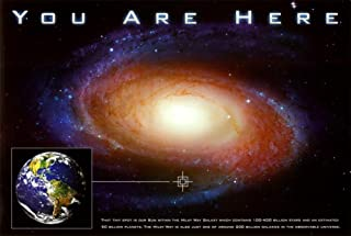 Classic You Are Here Galaxy Space Science Poster Print 20 x 13in
