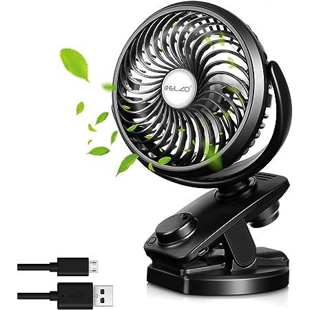 GEYUEYA Home Mini USB Ventilator mit Nachtlicht Camping Tischventilator Leise Tragbarer L/üfter 4000mAh 4 Geschwindigkeiten USB und Solarladung Fan