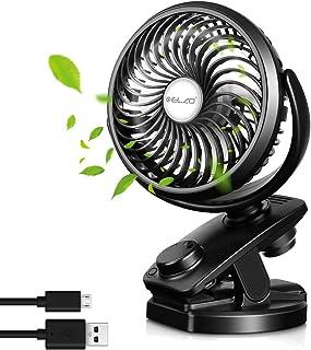 Elzo Usb-ventilator, Handventilator En Oplaadbare 4800 Mah Power Bank 2 in 1, Mini Stille Ventilator Clip Op Ventilator Ka...