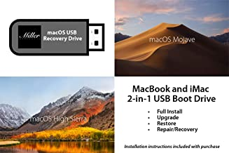 macOS 2-in-1 USB Install Drive - 10.14 macOS Mojave and 10.13 macOS High Sierra - Full Install, Upgrade, Recovery, Reinstall - Bootable