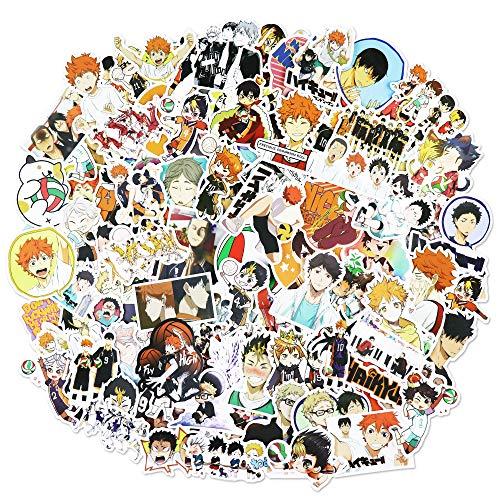 Haikyuu Stickers 102 PCS Anime Stickers for Boys Laptop Skateboard Waterproof Car Sticker