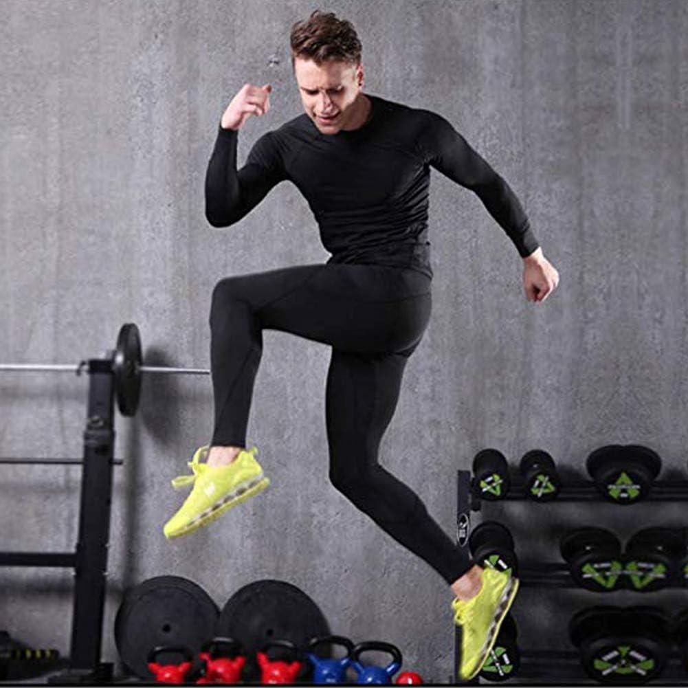 BUYKUD Mens Long Sleeve Base Layer Compression Athletic Underwear Shirt Tights Top /& Bottom Set
