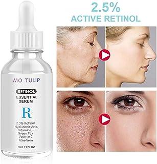 Stylelove 30 ml de suero de Retinol 2.5% de Retinol hidratante aclara la Piel Vitamina E y ácido hialurónico - suero an...