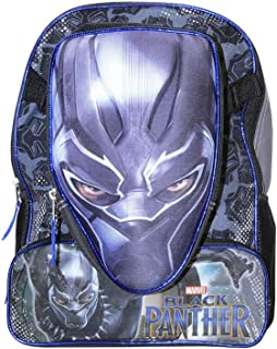 Black Panther Marvel 16 inch Backpack with Detachable Molded Lunch Box, School