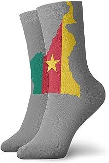 iuitt7rtree Camerún Calcetines Calcetines de Adulto Calcetines Colorfu