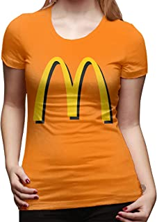 Women's Retro McDonalds Apparel Tee T Shirt Short Sleeve Cotton T-Shirt Sports Women Youth Girls Shirts Vintage Tshirt