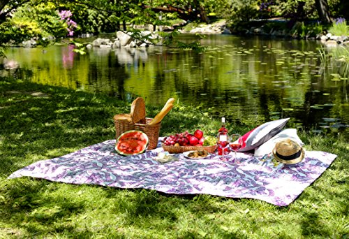 DecoKing Tagesdecke 240x260 cm Amarant weiß grau rosa Bettüberwurf mit abstraktem Muster elegant zweiseitig leicht zu pflegen Vivian Purple White Grey pink