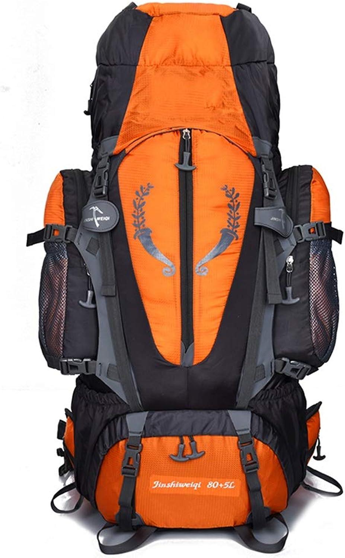 Backpack Ruckscke Tagesrucksack 85L Groe Trekking Rucksack Herren Wasserdichte Outdoor Wandern Camping Interner Rahmen Rucksack ZHAOYONGLI (Farbe   Orange, gre   85L)