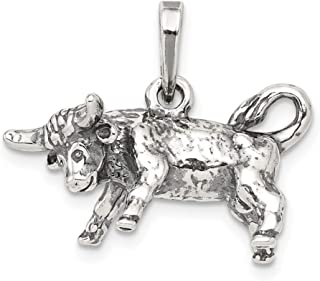 925 Sterling Silver Taurus Pendant Charm Necklace Zodiac Fine Jewelry Gifts For Women For Her