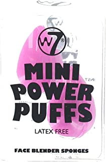 W7 Power Puff Latex Free Mini Foundation Face Blender Sponges by W7