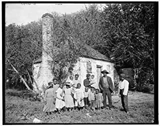 HistoricalFindings Photo: Whole Black Family,Hermitage,African Americans,plantations,Savannah,GA,c1907