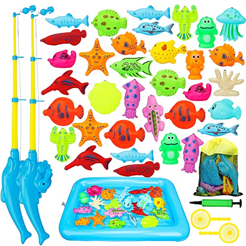TOY Life Kids Magnetic Fishing Game with Toy Fishing Pole, Fishing Toy...