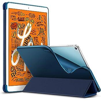ESR iPad Mini 5 2019 ケース 軽量 薄型 PU レザー スマート カバー 耐衝撃 傷防止 ソフト TPU 背面 ケース 三つ折り スタンド オートスリープ ウェイクアップ 機能 iPad Mini5(第五世代) 専用(ネイビーブルー)