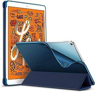 ESR iPad Mini 5 2019 ケース 軽量 薄型 スマート カバー 耐衝撃 傷防止 ソフト TPU 背面 ケース 三つ折り スタンド オートスリープ ウェイクアップ 機能 iPad Mini5(第五世代) 専用(ネイビーブルー)
