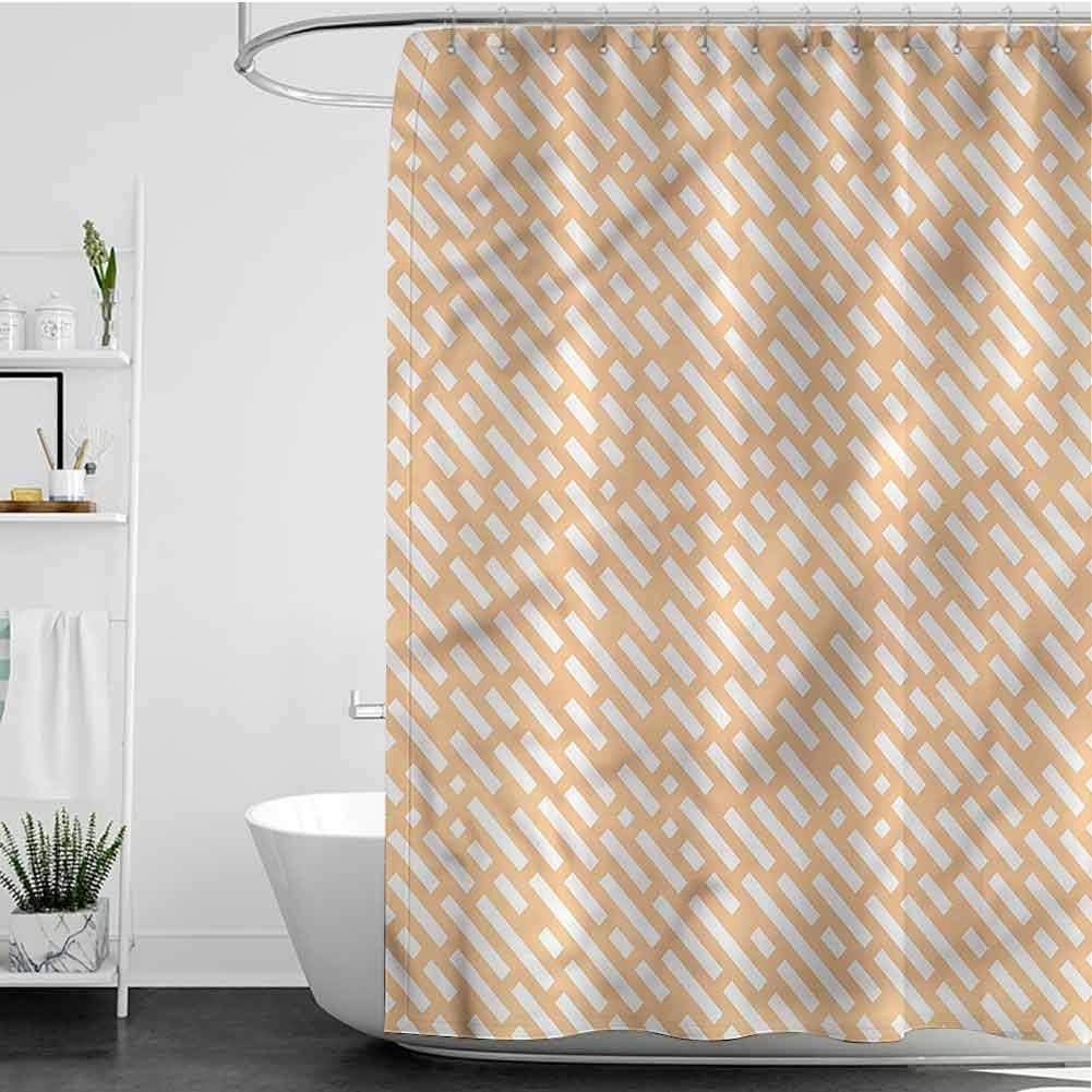 Bargain SKDSArts Shower Curtains for Kids Lines Des Bathroom Import Dashed Bold