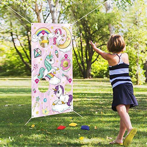 FORMIZON Bannière de Jeux de Lancer, Toss Jeu pour Enfants et Adultes avec 6 Sacs de Fèves en...