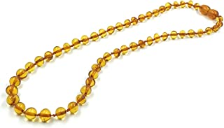 Amber Jewelry Shop Baltic Amber Necklace (Unisex) 13 inches/Certified Genuine Baltic Amber Necklace