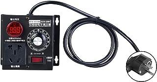 Atenuador, regulador de velocidad de la velocidad del ventilador del motor del regulador de voltaje de CA 220V 9A 4000W Regulador de voltaje(EU Plug)