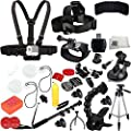 SSE Ultimate 39PC Accessory Kit for GoPro Hero+, HERO4 Session, HERO4, HERO3+, HERO3, Hero & Hero+ LCD by SSE