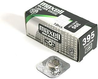 MAXELL Knopfzelle aus Silber 395 / SR927SW (Box mit 10 Batterien)
