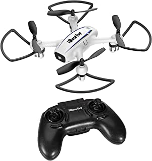iBaseToy Mini RC Quadcopter Drone - Upgraded Remote Control Drone with Batteries for Kids and Beginners, Training Quadcopter 4 Ways with Altitude Hold, 3D Flips & Roll, Headless Mode &One-Key Return