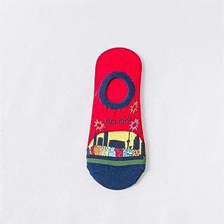 WZDSNDQDY Calcetines de Hombre, Material de algodón, Running Deportivo, Calcetines de Dibujos Animados