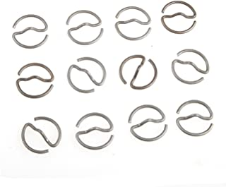 Heerpoint Reproduction 12 PCS WWII German Army Military Clothes Tunic Metal Button S-Ring Rings