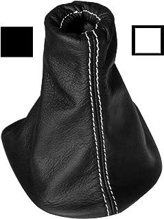 AERZETIX Soufflet Levier de Vitesse en 100/% Cuir v/éritable Coutures Blanches pour Seat Ibiza 2002-2008