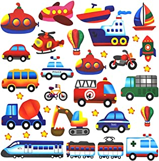 Cars Wall Decal, H2MTOOL Removable Airplane Transportation Stickers for Kids Room Nursery Decor (Cars)