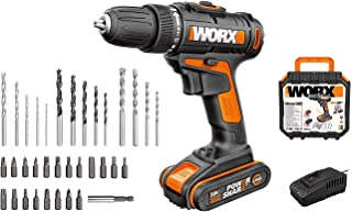 WORX WX101.5 20V Drill Driver with 35pc Accessory Kit, Black