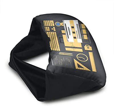 Voyage Travel Pillow Eye Mask 2 in 1 Portable Neck Support Scarf Office Ergonomic Naps Rest Pillows Sleeper Versatile for Airplanes Car Train Bus Home Office