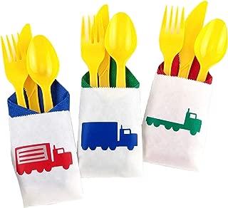 Semi Truck Party Cutlery Set - 24 ct Big Rig Transportation Birthday Supplies