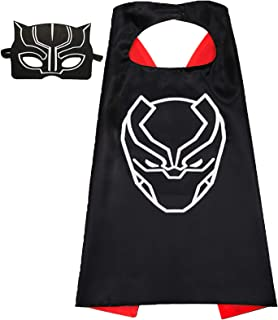 Aodai Halloween Costumes and Dress up for kids - Black panther Costume Cape and Mask
