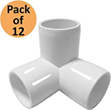 SELLERS360 3Way 1/2 in Tee PVC Fitting Elbow - Build Heavy Duty PVC Furniture - PVC Half inch Elbow Fittings [Pack of 12]