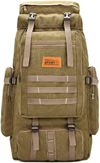 80L Hiking Backpack Rucksack Waterproof Traveling Tactical Luggage Used for Outdoor Sports Climbing Mountaineering (Zipper...