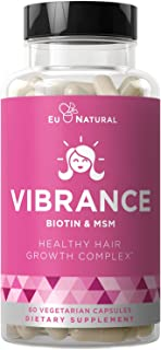 Vibrance Hair Growth Vitamins – Grow Hair Faster, Healthier & Stronger Length, Beautiful Locks for All Hair Types – Hair V...