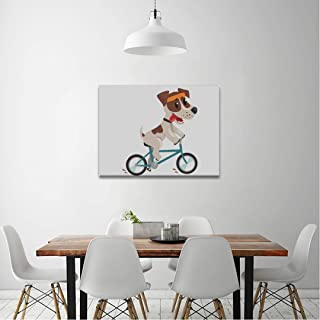 SEGFG Canvas Wall Art Cute Jack Russell Terrier Athlete Riding Canvas Print Wall Art Painting for Living Room Decor and Modern Home Decorations in Wall Art 20