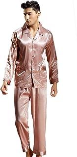 Men's Pajamas Set Spring Autumn Longsleeve Pajama Top Comfortable Sizes and Pajama Pants Long Solid Colors Comfortable Hom...