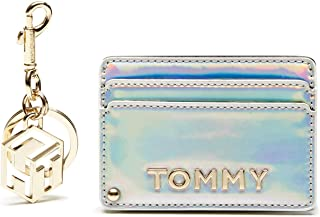 Tommy Hilfiger GP Party Card Case Key fob Wallets, Gold, AW0AW07739