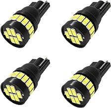 T10 194 168 2825 24SMD 3014 ChipsetsLed Car Light Bulbs,194 led bulb Super Bright 6000K White Interior Bulbs for Map Lights Reading Lights License Plate Lights (Pack of 4)