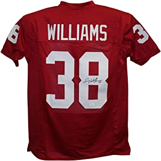 Roy Williams Autographed/Signed Oklahoma Sooners Red XL Jersey JSA