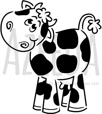 Gross A2 Nette Kuh Wandschablone Vorlage