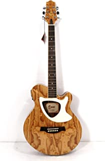 Acoustic Electric Cutaway Guitar, Thin Body, Built-In Tuner