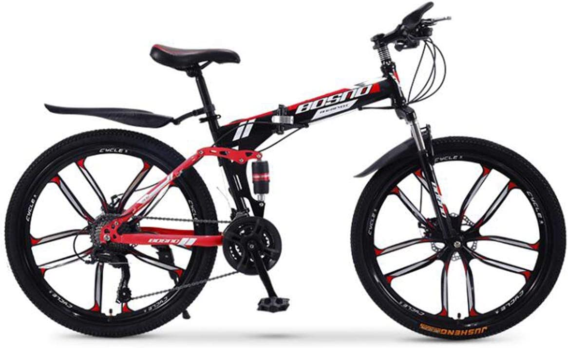 Full Dual-Suspension Mountain Bike 24-Speed Shimano Drivetrain,in Multiple Colors,10,21speed Featuring Steel Frame and 26-Inch Wheels with Mechanical Disc Brakes