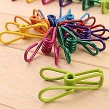 5 stuks Clips winddicht Multi-purpose Kleurrijke Kleren Clips wasknijpers kleren drogen Hanger for Home Laundry Gereedscha...